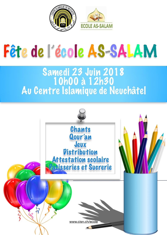 Fete de l'école – Samedi 23 juin 2018
