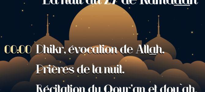 Nuit du 27 Ramadan 1440