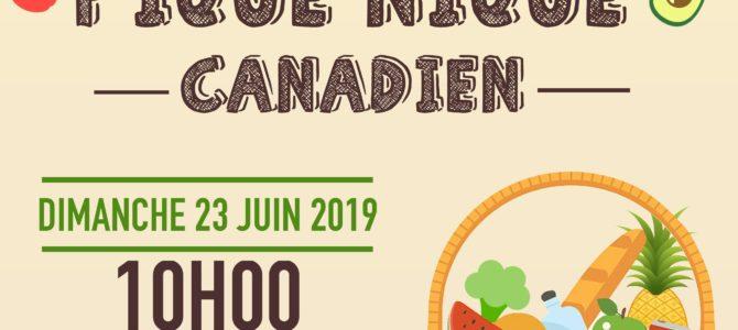 Pique-Nique «Canadien» Dimanche 23 juin 2019